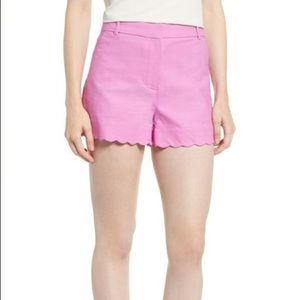 J.Crew Scalloped Hem Stretched Cotton Shorts